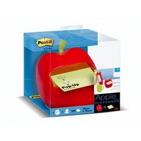 Dispenser Post-it® Z-Notes MELA + 1 blocchetto 76 mm x 76 mm