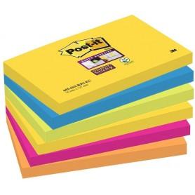 Foglietti Post-it® Super Sticky Rio De Janeiro 76x127 - 6 pz