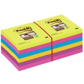 Post-it® Super Sticky Note Colori Ultra - 76x76 mm - 12 pz.