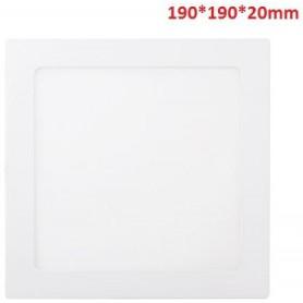 15W-1100LM-4000K120º-190*190*20mm/180*180mm-AC90-265V