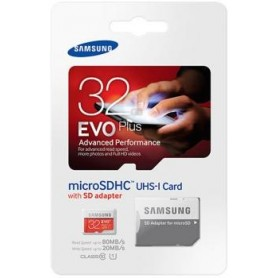 Micro SD + adapter EVO Plus 32 GB SDHC UHS 80MB/s - blister