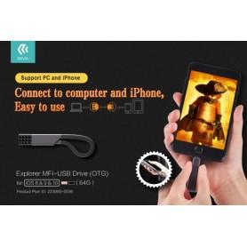 Chiavetta OTG per Apple Certificata MFI 64 Gb Usb 3.0